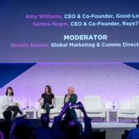 Amy Williams speaking at MWC19