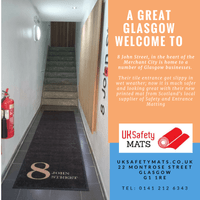 Office entrance safety mat