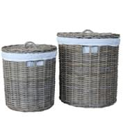 BAHAMA LAUNDRY BASKET (SET OF 2