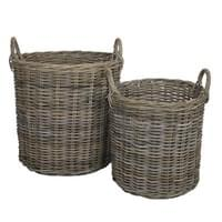 BAHAMA ROUND BASKET (SET OF 2)