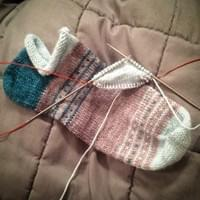 Danseys Pass Sock Pattern in progress