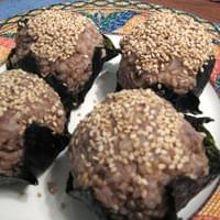 Rice balls wrapped in seaweed