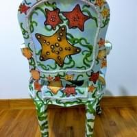 Completed chair-painting