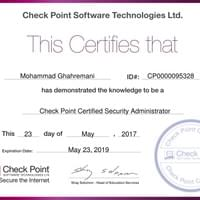 CCSA (Check Point Certified Security Administrator)