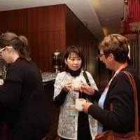 Dr. Hiroko Tadaura with Dr. Tracy Edwards During Coffee Break