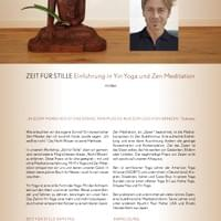 Yin Yoga & Zazen  Workshop and  I offered in Germany, 2016.