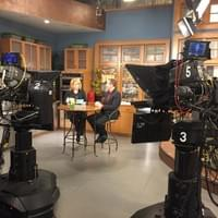 Being interviewed on live television to discuss the release of its newest book