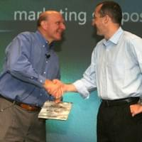 Receiving Marketing Leadership Excellence Award from Microsoft CEO, Steve Ballmer