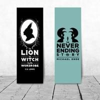 Famous Title Bookmark Series - The Lion, the Witch and the Wardrobe & The Neverending Story