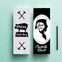 Famous Title Bookmark Series - Misery & Jane Eyre