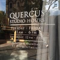 Quercus Studio Hours Door Decal
