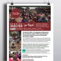 Seeking Shelter for Nepal Fundraiser Flier