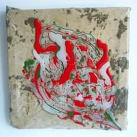 R & G Contrasting Colours, 2020, 34.2 x 35 x 4 cm, Mixed media on Canvas