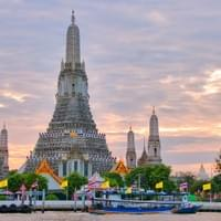 "Wat Arun ""Temple of Dawn"" across the river from our hotel"
