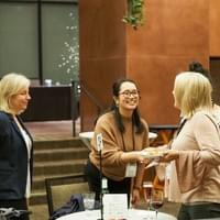 Women greeting each other