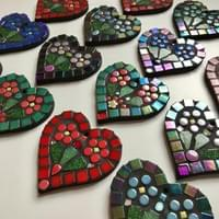 Selection of 8 cms Hearts