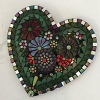 Mirror Edge Floral Heart, 25 cms