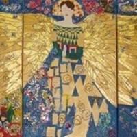 Multi Media Klimt Angel Tryptych