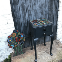 Upcycled Mosaic Top Table