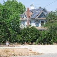 Victorian home with solar panels, Redlands CA