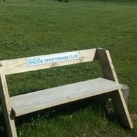 Club donated bench to the Oneida Lake (2016)