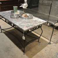 marble top coffee table - $150