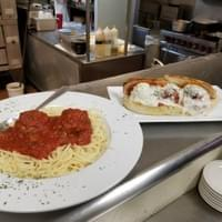 City Pizza Spaghetti and Meatballs