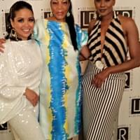 Kathy David with Fashion Designer, Lizz Russell, and Tangi Miller (Actress and Model)