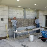 Brick Masons during install