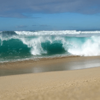heart in the waves