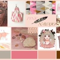 Moodboard Pink Navajo_Recherches Collection Fille