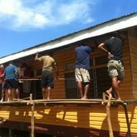 Building Community Centres in coastal Fiji