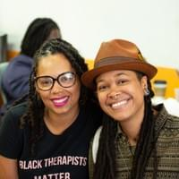 Panelist Dr. Shena Young on the left.