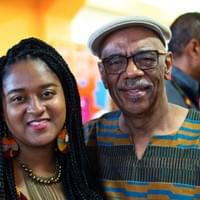 Marguerite, our Social Media Coordinator, along with our Director of Programs, Harold Turner.