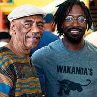 Our Director of Programs, Harold Turner, on the left with Iko Bako.