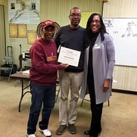 Family-to-Family Express Class Graduates pose with class instructors, Harold Turner & Rowena Rucker, on Nov. 18, 2017.