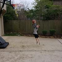 Brayden Playing Basketball
