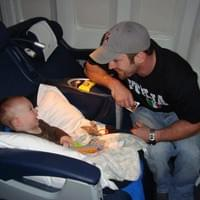 Baby Brayden Flying Business class to Rome