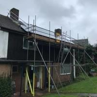 small scaffolding project example, North Devon