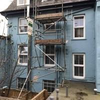 domestic scaffolding ilfracombe example