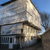 Scaffolding project, Ilfracombe