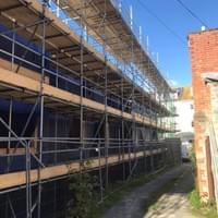 Larger commercial scaffolding job