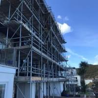 Commercial Scaffolding Job in Ilfracombe