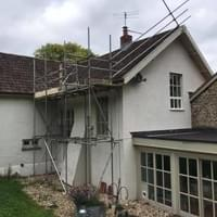 We enjoyed this scaffolding job for a lovely client.