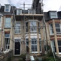 Scaffolding for a lovely client in Ilfracombe