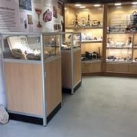 Smart looking low tower display cabinets with LED spotlight specified and built for Treak Cliff Cavern in the beautiful Peak District - Part One.