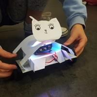 Robot making workshop using Microbit and servo lite