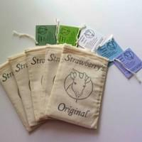 Each soap comes with a cloth gift bag