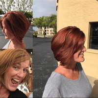 Sara's wonderful cut & color