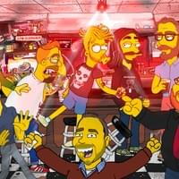 Simpsons CartoonGroomsmen At The Old Pink
